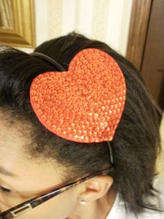 Sequin Heart Headband