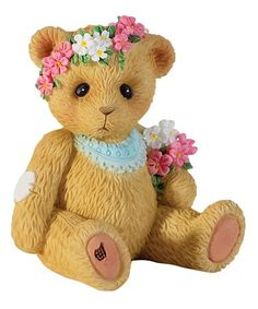 Another great find on #zulily! Mini Bear with Flower Figurine #zulilyfinds