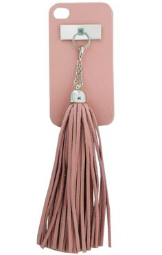 Leather tassel iPhone Cover