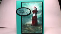Stampin' Up! High Tide Rainy Day Technique Doesn't this look like a painting? It's so easy to create with the Serene Scenery DSP, High Tide and Gorgeous Grunge stamp sets. www.robynsroost.stampinup.net