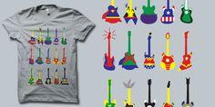 """Mintees - Tees - """"Guitar Heroes"""" by Jonah Block"""