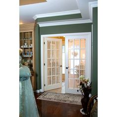 Beautiful Milette   Interior French Door Primed With 15 Lites Clear Glass   32 Inches  X 80