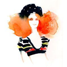 in tribute to Sonia Rykiel Fashion illustration Illustration de mode