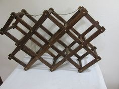 Accordion Wood Wine Rack by LuRuUniques on Etsy