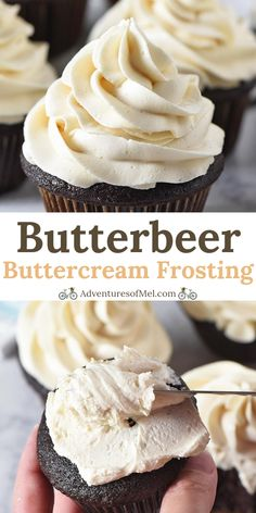 Harry Potter fans unite with this dreamy butterbeer buttercream frosting. Easy r… Harry Potter fans unite with this dreamy butterbeer buttercream frosting. Easy recipe for a fluffy icing, perfect for cupcakes and decorating! Food Cakes, Cupcake Cakes, Cupcake Frosting Recipes, Icing Recipes, Easy Frosting Recipe For Cookies, Thick Frosting Recipe, Icing Recipe For Cupcakes, Bakery Frosting Recipe, Cupcake Recipes Easy