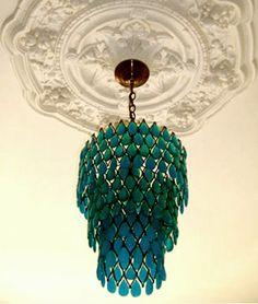 emerald green chandelier