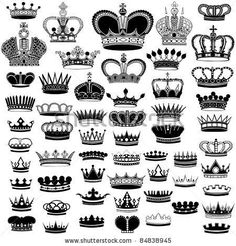 choose for design, invitations, thank yous, table cards, tatoo. Crown Silhouette, Silhouette Vector, Piercings, Piercing Tattoo, Couple Tattoos, Love Tattoos, Tattoo Couronne, Finger Tattoos, Art Design