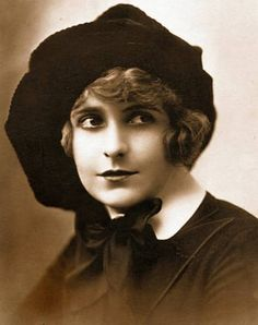 "Pearl White 1920's - known as the ""Stunt Queen"" of the silent movies - best known for ""The Perils of Pauline"""