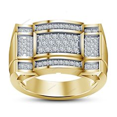 0.60Carat Round Simulated Diamond Yellow Gold Finish 925Silver Women's Band Ring #aonedesigns #WomensWeddingBandRing