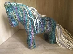 Freya the Magical Horse knitted toy