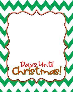Days Until Christmas-Chalkboard Edition (Christmas Countdown ...