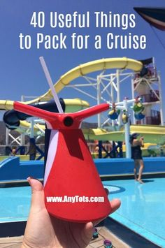 What to Pack for a Cruise? Add some of these 40 Useful things to pack for a cruise on top of your usual cruise packing essentials. www.anytots.com for more cruise tips. #cruise #cruisetips #travel #familytravel #travelblogger #familytravelblogger