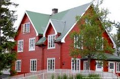 Red House Scandinavian Home Houses Yellow Norwegian