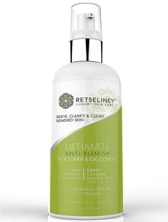 NATURAL ANTI-BLEMISH FORMULA - Retseliney anti-blemish face toner and oil control formula helps in deep cleansing of your skin and wiping out of blemishes through its unique blend of natural ingredien
