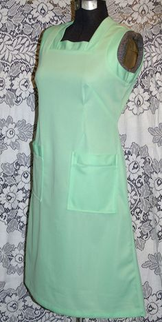 Vintage 1960s Mint Green BENHER Diner WAITRESS Fitted UNIFORM Atomic Lucy Rockabilly Dress by VintageRoyalTreasure on Etsy