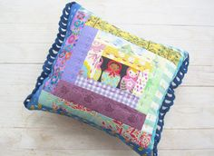 Decorative pillow Matryoshka patchwork quilted with by poppyshome, $40.00