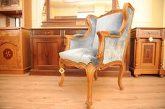 Lui XIV Handmade Armchair made with King Walnut Tree Sawings Wood by CaltaveridisClassic on Etsy