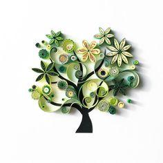 いいね!1,626件、コメント30件 ― Olga Yaroslavtsevaさん(@quilledbyolia)のInstagramアカウント: 「Вот такое зеленое дерево Жизни, дерево Счастья, дерево Семьи поселится в доме у чудесной Маши…」