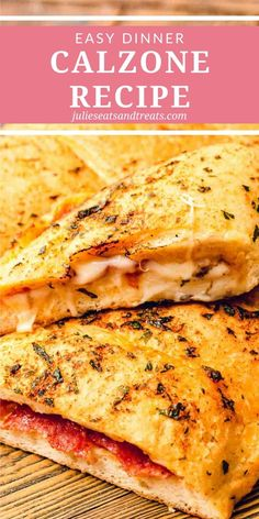 Pizza dough stuffed with your favorite pizza toppings, pizza sauce and cheese make this Calzone recipe a fun twist on pizza night! It& a family friendly easy dinner recipe everyone will love! Pizza Recipes, Easy Dinner Recipes, Beef Recipes, Easy Meals, Cooking Recipes, Dinner Ideas, Top Recipes, Weeknight Meals, Potato Recipes