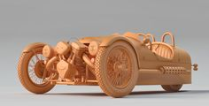 Morgan 3 Wheeler, Clay Render  3D Artist: Germano Vieira  Company: PICSIMstudio