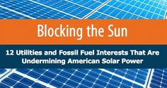 The Koch brothers, Duke Energy and Arizona Public Service are among 12 special interest groups waging aggressive anti-solar campaigns across the country