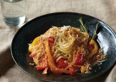 Linguine Peperonata with Toasted Rosemary Breadcrumbs