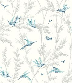 Waters Edge Indigo/ Aqua wallpaper by G P & J Baker                                                                                                                                                                                 More