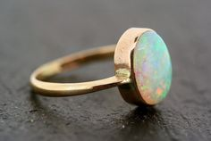 Antique Opal Ring Vintage Opal 9ct Gold Ring by AlistirWoodTait