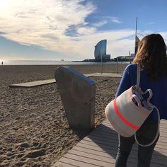 Zaino in spalla e buon lunedì!  Buenos lunes mochileros!  #makers #handcraft #blockprint #oneofakind #limitededition #handmade #hechoamano #fattoamano #cord #cordon #corda #bag #organic #cotton #algodon #organico #cotone #mirtasmood #work #bcn #barcelona #italiangirl #playa #barceloneta #bcn #mirtasmood #bagpack #mochila #zaino #beach #barcelonetabeach #playa #spiaggia