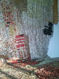 El Anatsui (i think) at Centre Pompidou, unbelievably beautiful.