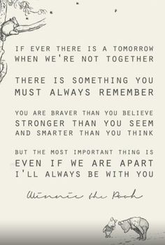 Leave it to Pooh to hit the nail on the head.