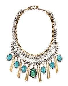 Costella Turquoise Statement Necklace  by Dannijo at Neiman Marcus.