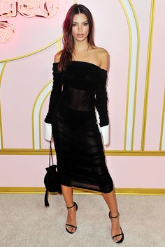 Emily Ratajkowski stuns in sheer black dress at Netflix's Emmy bash Cheap Black Dress, Black Dress Outfits, Work Outfits, Emily Ratajkowski Outfits, Black Dress Accessories, The Emmys, Party Looks, Nice Dresses, Celebrity Style