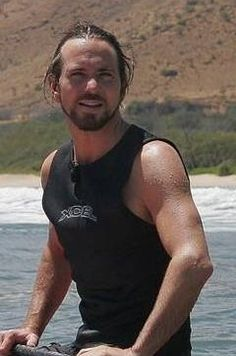 This is Eddie Vedder. I probably only think he's sexy because I love love love his music.  Swoon.