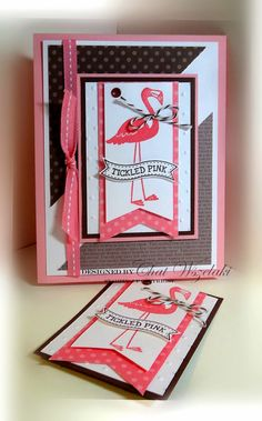 Chat Wszelaki: Me, My Stamps and I: From This To This- A Second Look at ATC - 8/6/14  (SU: Flamingo Lingo)  Stampin' Up!