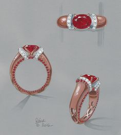 Ruby ring rendering medium