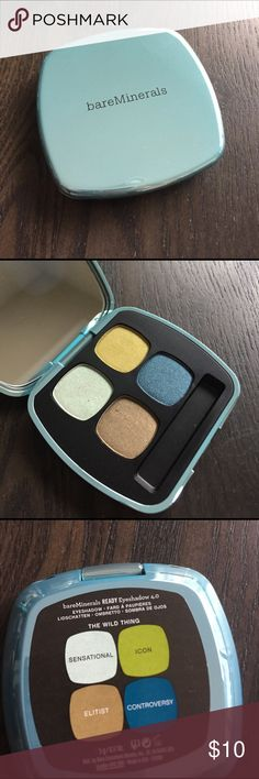 Bare minerals ready 4.0 eye shadow Bare minerals eye shadow the wild thing             Swatch only bareMinerals Makeup Eyeshadow