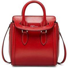 Heroine Mini Satchel Bag, Red - Alexander McQueen found on Polyvore #satchels