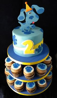 Blues Clues Cake and Cupcakes