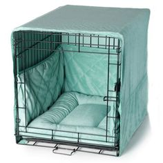 Pet Dreams' Cratewear set that includes: Decorative Cover, Reversible Crate Pad and Safety Bumper. The set will instantly turn your dog's crate into a bedroom!