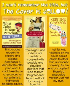 """Customer Feedback for St. Thomas Public Library's """"I can't remember the title, but the cover is YELLOW!"""" book display. (June 2013)"""