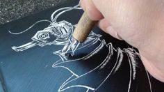 DIY Scratch Art - Shows how to make your own scratch boards using glue, plaster of paris, black paint, and a little dish soap.