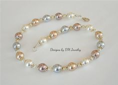 South Sea pearl shell white golden chocolate by DesignsbyDMCandles