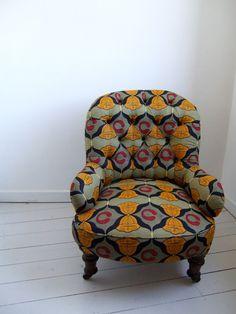 African Print armchair