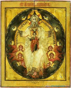 Old Russian Icon of the Trinity #God #icons