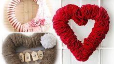 15 Lovely DIY Valentine's Day Wreaths Made from Unexpected Materials
