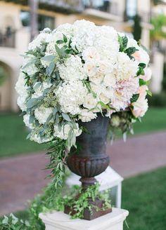 Elegant Blush Wedding Aisle Marker~