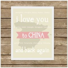 I Love You to CHINA and Back