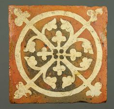 Medieval floor tile from Tintern Abbey