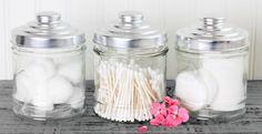 pote de algodão e cotonete para banheiro - Pesquisa Google